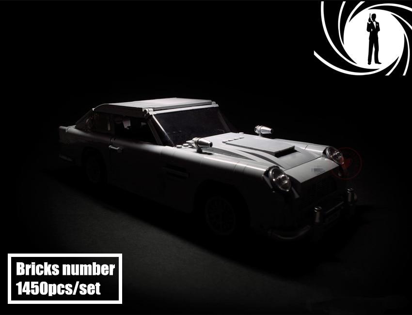 NEW Expert Aston James Bond DB5 Martin fit legoings technic city creator Model Building Blocks Bricks dy toys 10262 Gifts kid james martin