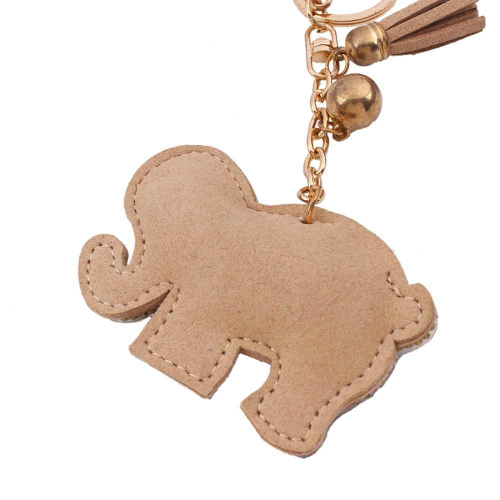Leather Elephant Holder Keychain