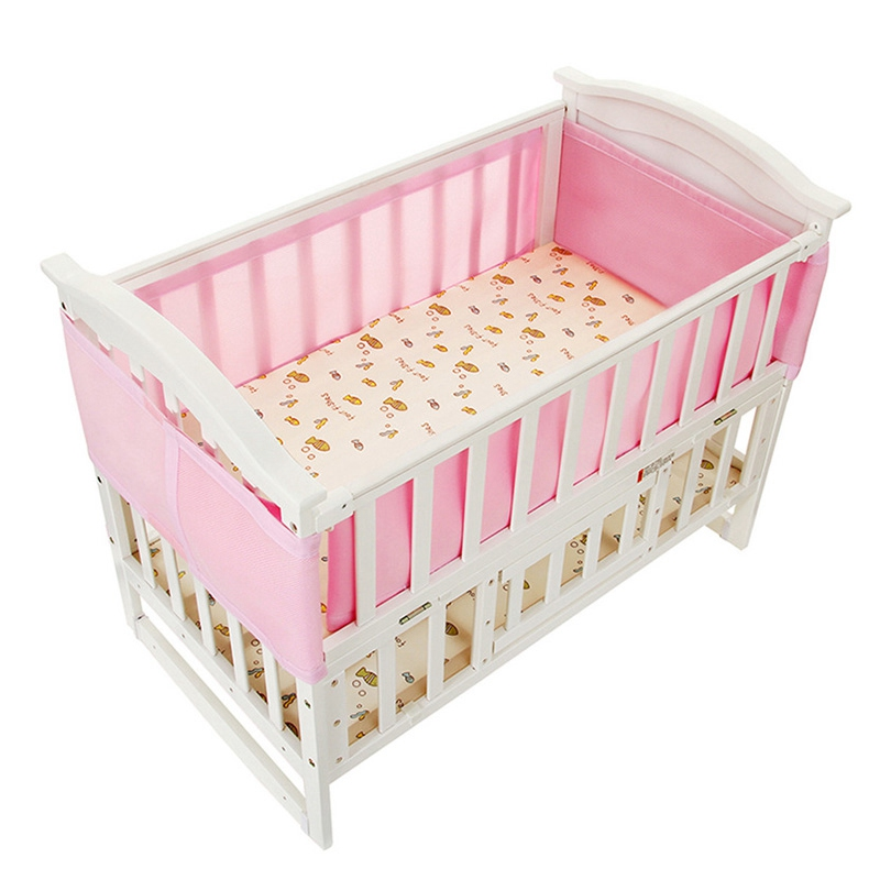 New arrival summer baby cot bumpers in the crib breathable for Best value baby crib