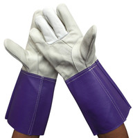 Free Shipping 2pairs Cow Grain Leather Welding Gloves Welders Gloves Wear Resistant Safety Gloves Long Protect