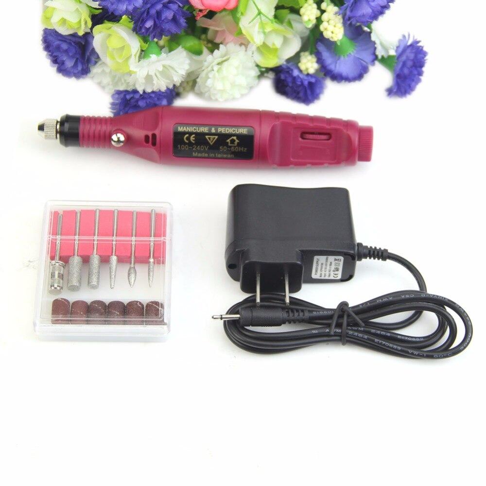 US Plug 220V 110V Manicure Pedicure Set Electric Drill Nail Pen Machine Kit Tool New Good