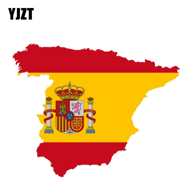 YJZT 14.3CM*11.5CM Spain Map Car Sticker Decal Motorcycle Helmet Window Accessories 6 0881|Car Stickers|   - AliExpress