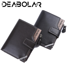 2019 New Mens Multifunctional Fashion Casual Short Style Wallet Coin Purse Male Wallets Card purse Wholesale zipper price