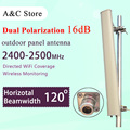 Двойной поляризации антенны wifi 2.4 Г 16dBi 120 градусов открытый панельная антенна для ap сектора N-female