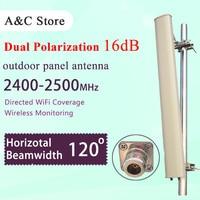 Dual Polarization Wifi Antenna 2 4G 16dBi 120degree Outdoor Panel Antenna For Ap Sector Single Polarization