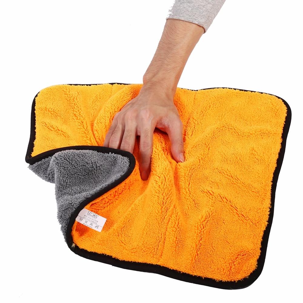 Super Soft Microfiber Absorbent Towel Car Home Kitchen Washing Clean Cloth Orange Car Absorbent Towel Washing Clean Cloth