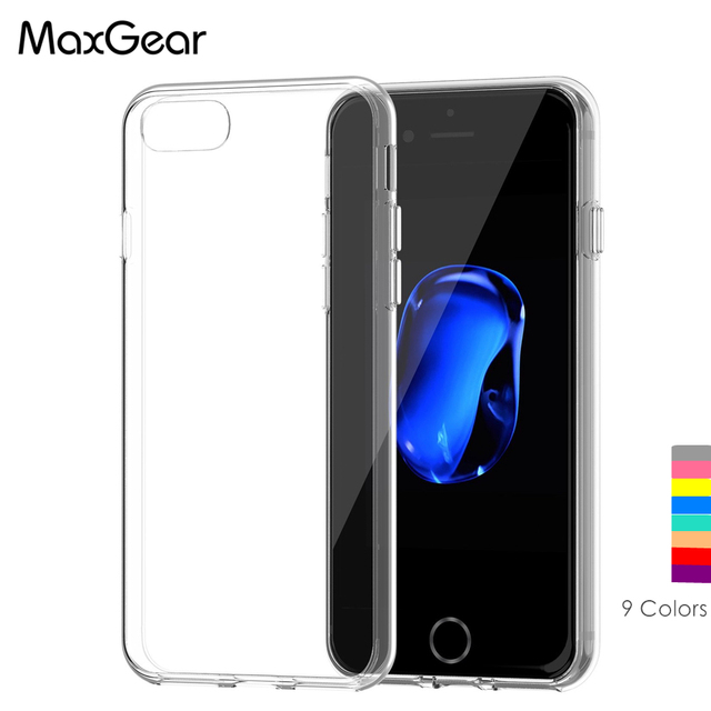 competitive price 57dfe a16dc US $2.0 15% OFF|Aliexpress.com : Buy MaxGear For Apple iPhone 7 iPhone7  Plus Case Slim Crystal Clear Soft TPU Silicone Protective sleeve for iPhone  7 ...