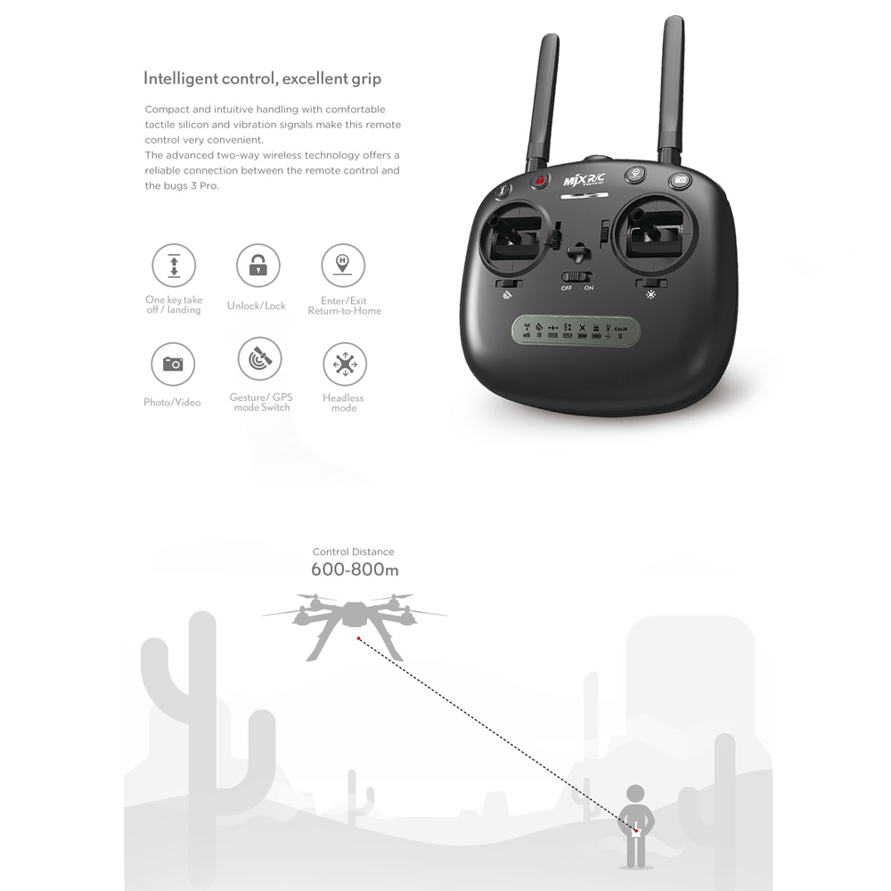 Image 3 - MJX Bugs 3 Pro B3 Pro RC Drone with 720P/1080P Wifi FPV Camera GPS Follow Me Mode Brushless RC Helicopter Quadcopter VS Bugs 5W-in RC Helicopters from Toys & Hobbies
