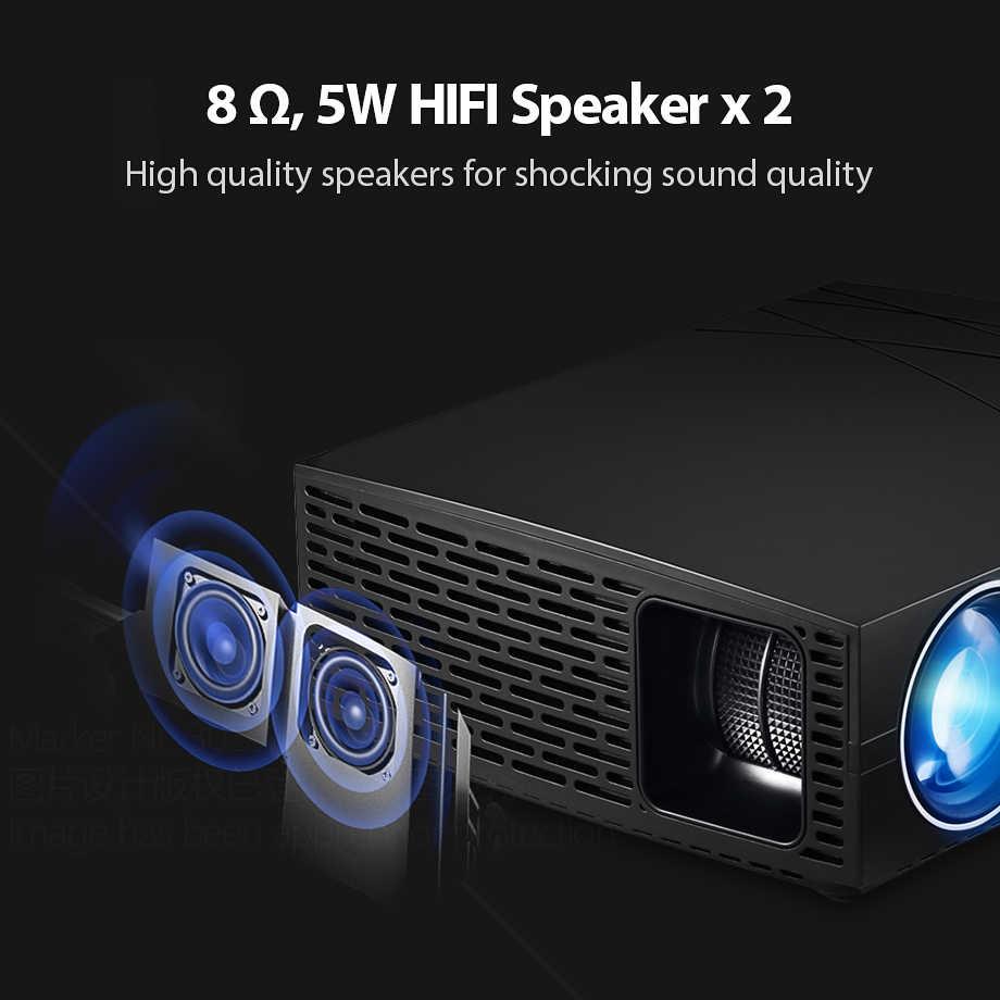 AUN светодиодный проектор F20 (опционально проектор для android-устройств поддержки 4 K, AC3) 4000 люмен 1280*800 Разрешение, Hi-Fi, Динамик, 3D Смарт Кино ТВ