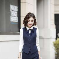 High Quality Fabric Uniform Designs Women Waistcoat & Vest for Ladies Female Office Business Work Wear Blazers Tops Clothes