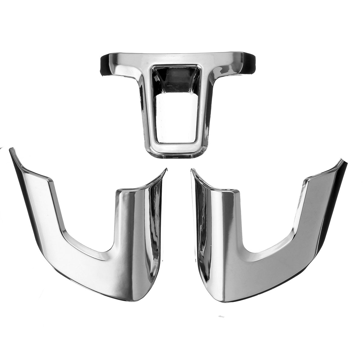 Car Steering Wheel Sticker Trim Covers For Volkswagen VW Golf 6 MK6 2009 2010 2011 2012 Polo Bora Sagitar ABS Chrome image