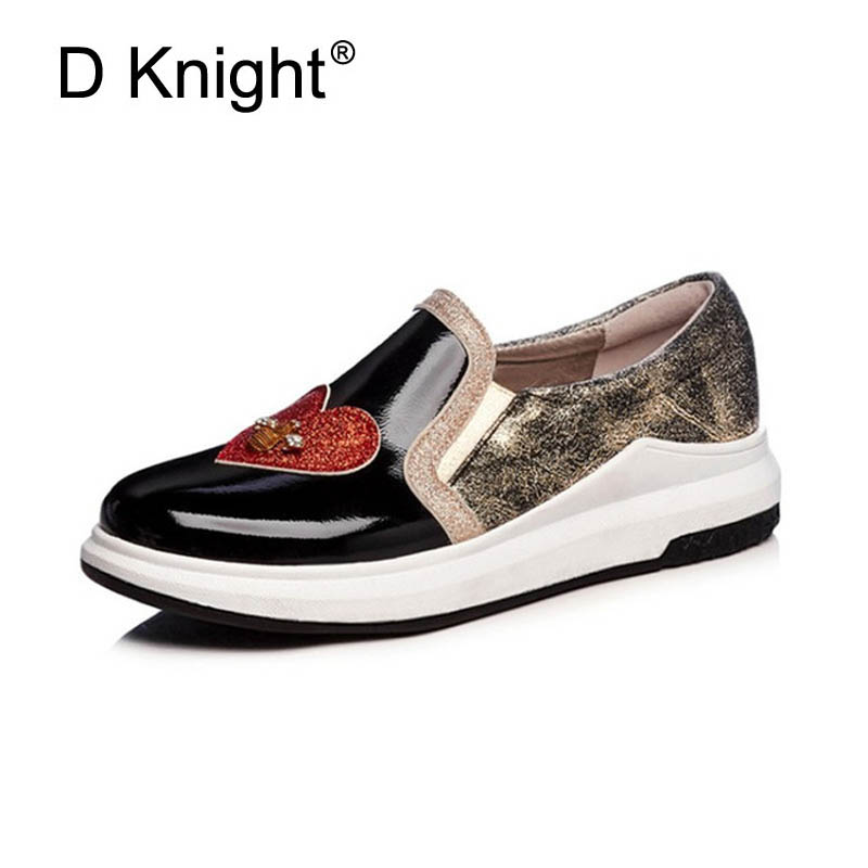 Bling Crystal Creepers 2018 New Platform Shoes Woman Comfort Loafers Slip On Flats Casual Fahsion Sneakers Women Shoes Size 3-12 phyanic 2017 gladiator sandals gold silver shoes woman summer platform wedges glitters creepers casual women shoes phy3323