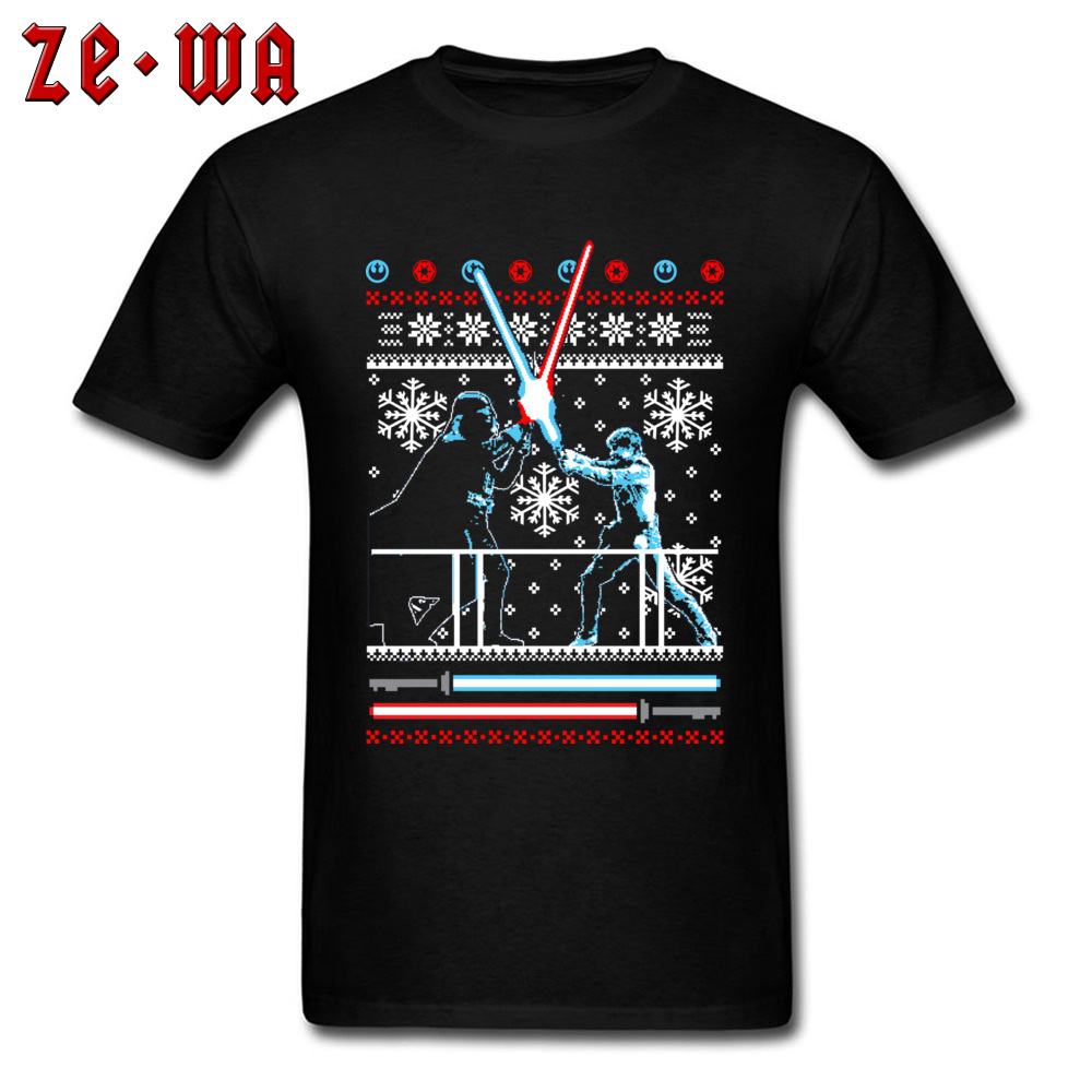 Star Wars Darth Vader Tshirts Christmas Battle Top T-shirts Normal Male Cool Tops & Tees Camisetas Marvel Movie T Shirt Mens