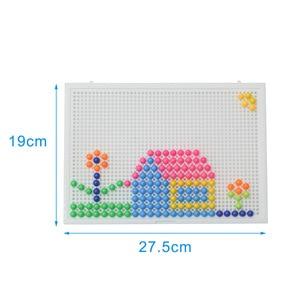 Image 5 - Heißer Verkauf 320 Pcs Mosaik Peg Board Puzzle Pilz Nägel Peg Puzzles Pädagogisches Spielzeug für Kinder