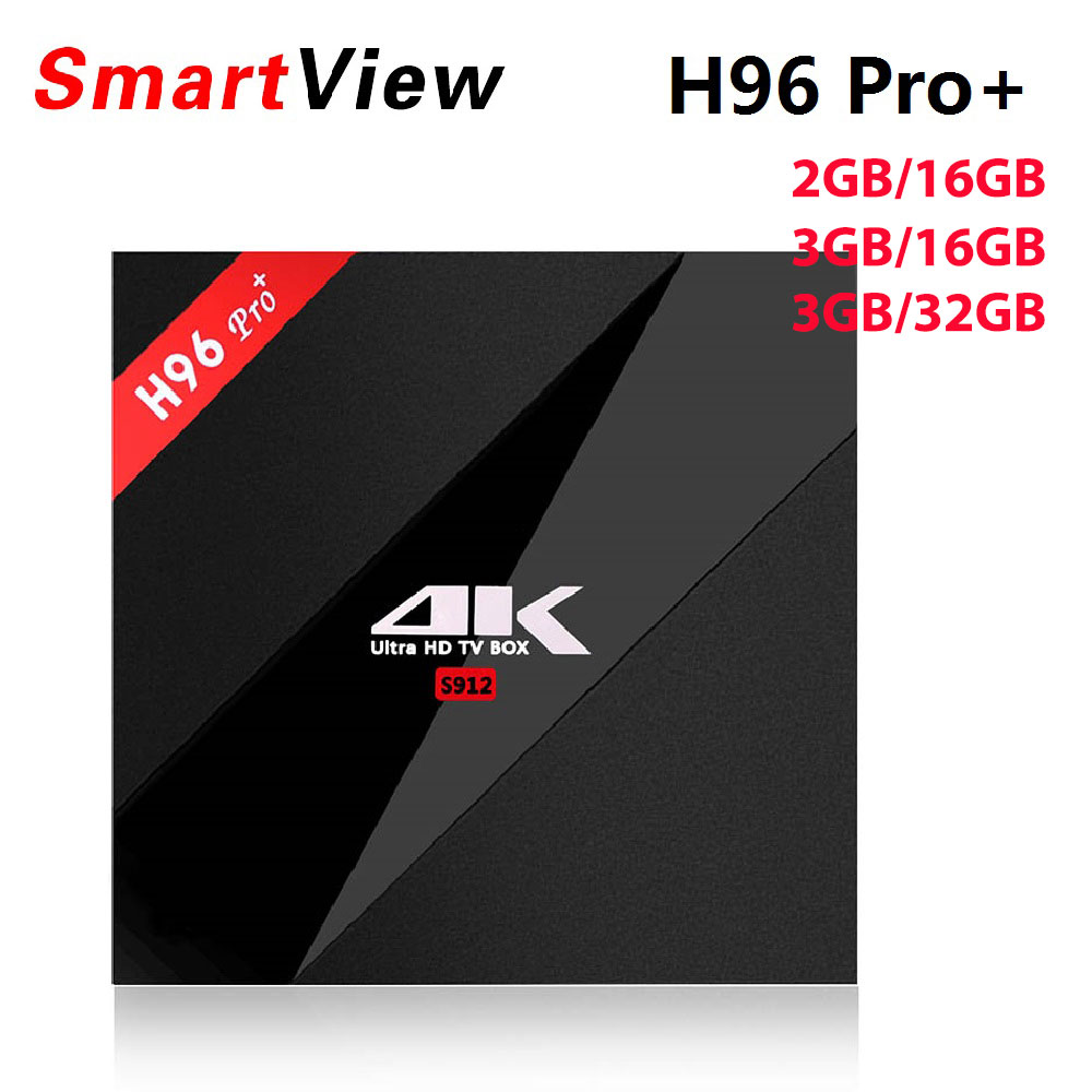 10pcs H96 Pro+ Android 7.1 TV Box 2GB/16GB 3GB/32GB Amlogic S912 Octa Core 2.4G/5.8G WiFi H.265 BT4.1 H.265 4K Smart TV BOX android tv box h96 pro plus 1pcs i8 keyboard amlogic s912 3gb 32gb quad core 4k wifi h 265 mini pc smart tv box set top box
