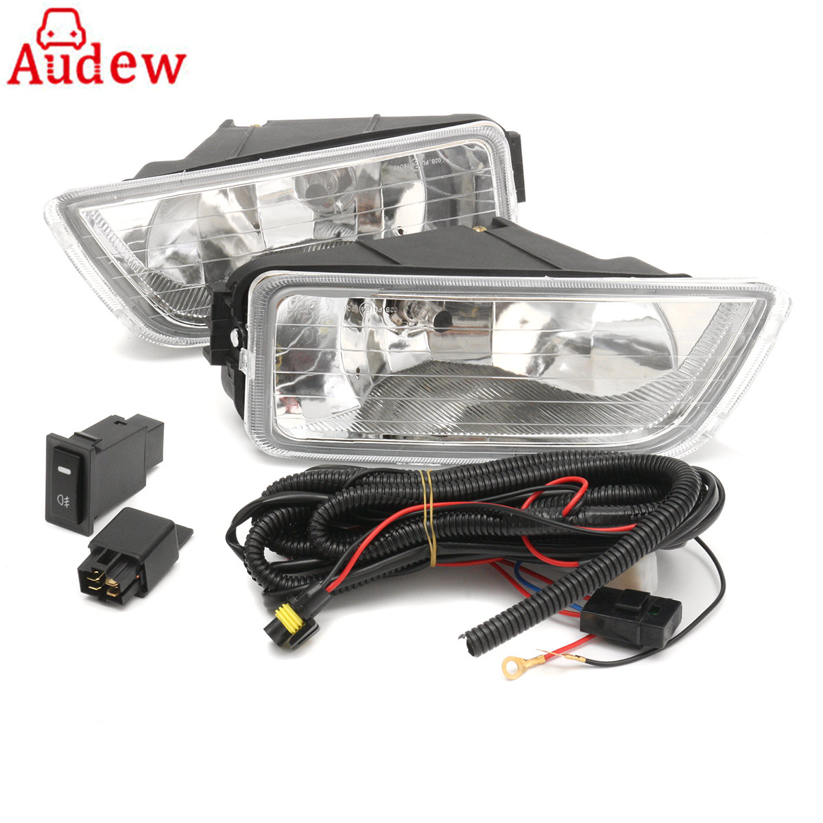 2Pcs H11 55W Car Front Side Fog Lamp Light  Assembly With Wiring Harness and accessories For Honda/Accord 2003-2007 12v 55w car fog light assembly for ford focus hatchback 2009 2010 2011 front fog light lamp with harness relay fog light