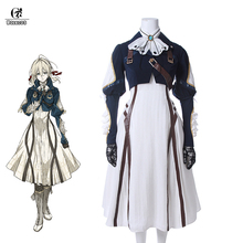 ROLECOS Violet Evergarden Cosplay Costume Anime for Women Halloween ( Top + Dress Gloves )