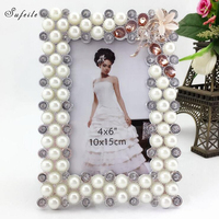 SUFEILE Modern 8 inch Photo Picture Frame Swing Sets HD Glass Lens Frame Picture Desktop Photo Gift for Friend Friend D50