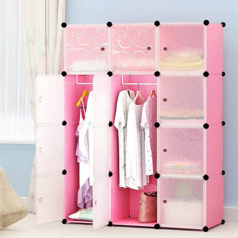 2019 NEW Multi-color Economy Simple Wardrobe DIY Single-person Wardrobe Plastic Combination Portable Locker Combination Locker