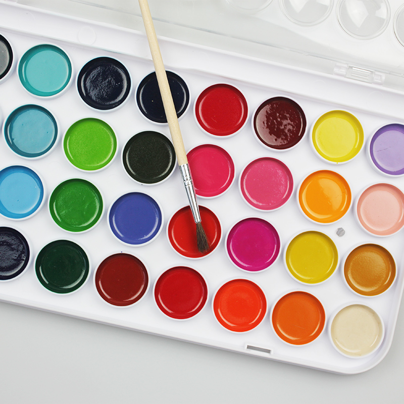 12/16/28/36 Colors Solid Gouache Paint Set With Watercolor Powder Set Art Supplies In Case For Kids Painting Utensils Materials