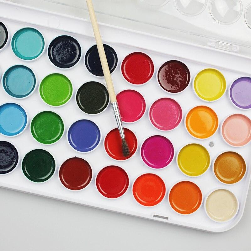 12/16/28/36 couleurs solide gouache peinture ensemble avec aquarelle poudre set art fournitures dans le cas pour enfants peinture ustensiles matériaux