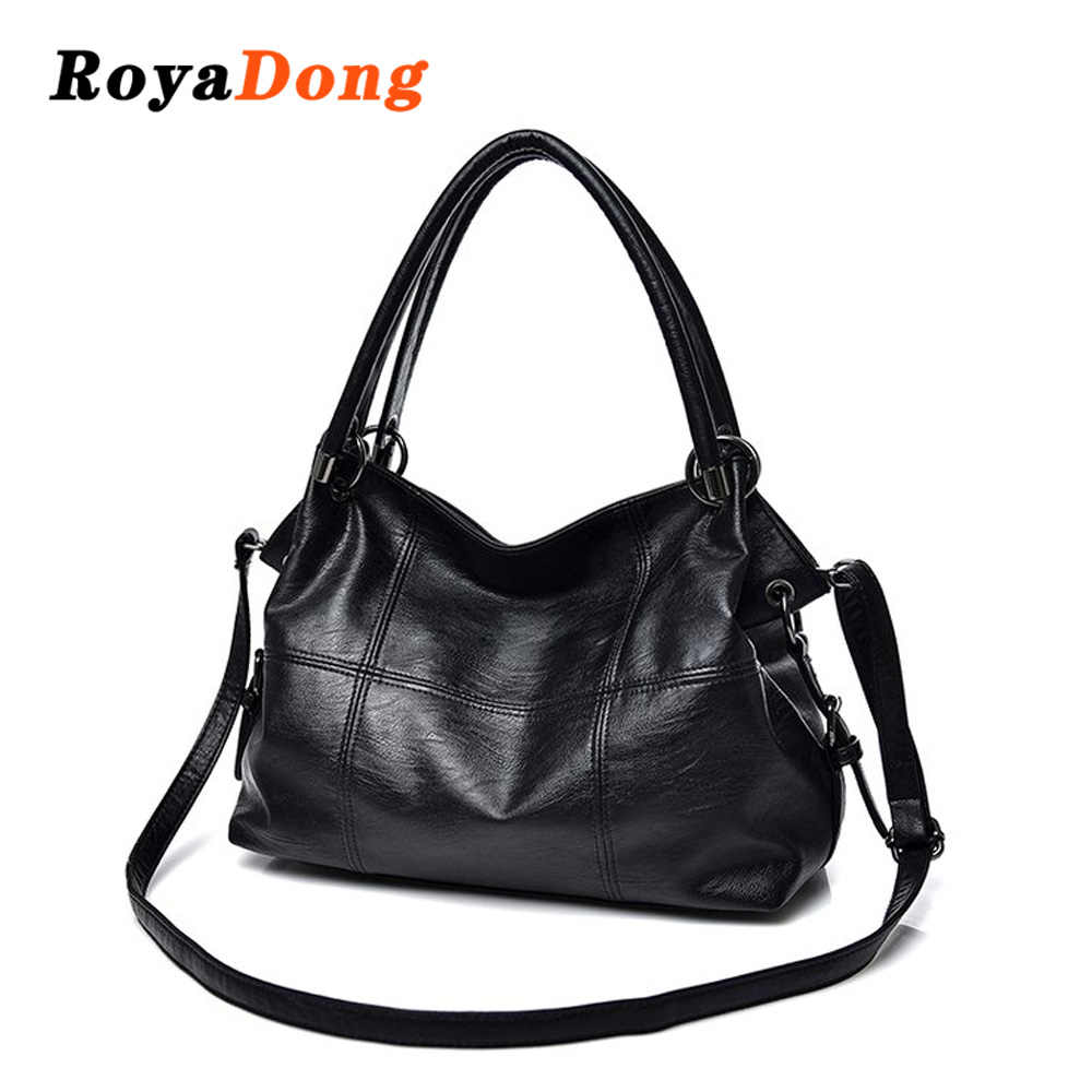 92b87077625 RoyaDong 2019 New Fashion Women Shoulder Bags High Quality Pu Leather  Female Handbags Ladies Dress Hand