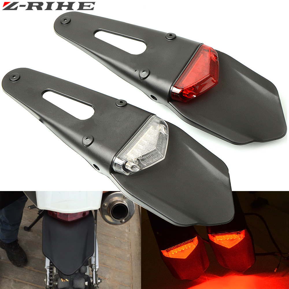 10 LED Rear Fender Brake Stop Tail Light For Motorcycle KTM EXC WRF 400 426 Red