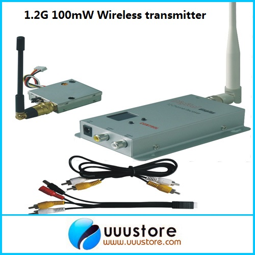 1.2g 100mw Wireless Audio Video transceiver and receiver combo for FPV fpv 5 8g 600mw 32 channel wireless audio video a v transmitting receiving system combo module for fpv ts832 rc832