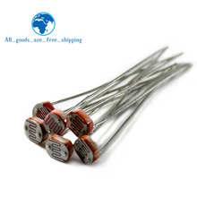 20 piezas-Resistor fotosensible LDR para Arduino, fotorresistencia fotoeléctrica 5528 GL5528 5537 5506 5516 5539 5549
