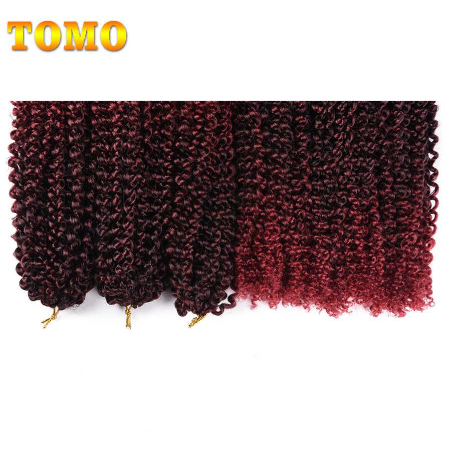 TOMO африканские в мелкий завиток волосы Омбре Marlybob крючком косы 24 корня/упаковка синтетические вьющиеся кудряшки переплетения