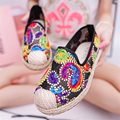 National style women's casual shoes 2016 summer new breathable mesh comfortable flat shoes women shoes
