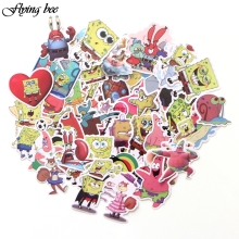 Flyingbee 50 Pcs Cartoon kids Waterproof Stickers Cute Cartoons Scrapbooking for Luggage Laptop X0035