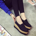 2016 autumn and summer heavy-bottomed platform loafers shoes women sports doug shoes comfortable wild female student