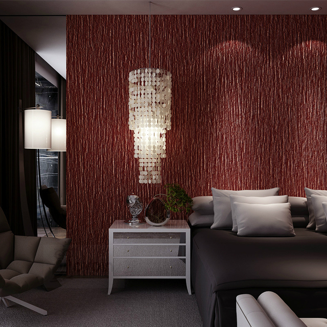 Gold Shine Dark Red Plain Wallpaper Wall Coverings Roll Modern Brief Printing Sofa TV Background Living