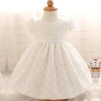 Recién nacido lindo dress blanco para bebés bebé recién nacido traje de bautizo niño niñas de encaje blanco bautismo dress vestidos de gasa niño