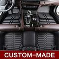 Personalizar esteras del piso del coche para Kia Sportage Sorento Optima Forte K5 K3 ajuste perfecto en los pies alfombra car-styling alfombras revestimientos