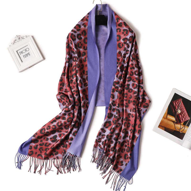 fe7fbaeb567f0 ... 2019 Leopard Print women scarf winter cashmere scarves neck head warm pashmina  lady shawl wrap blanket ...