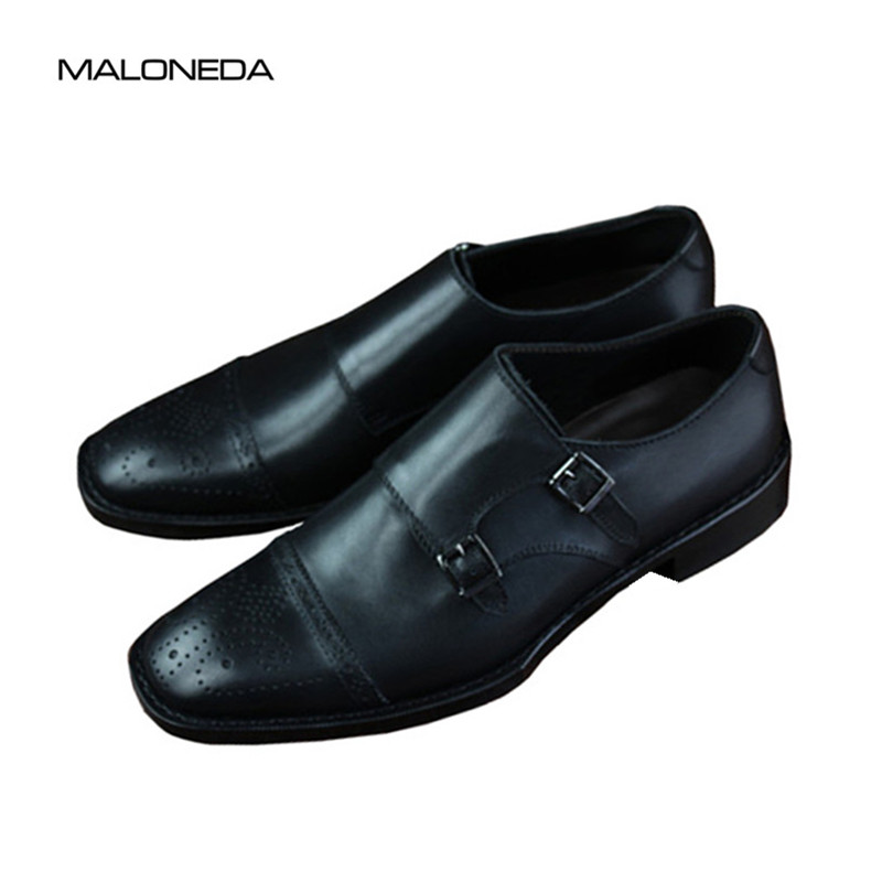MALONEDA Mens Brogue Monk Strap Shoes Handmade with Goodyear Welted Genuine Leather Dress Shoes Slip on MALONEDA Mens Brogue Monk Strap Shoes Handmade with Goodyear Welted Genuine Leather Dress Shoes Slip on