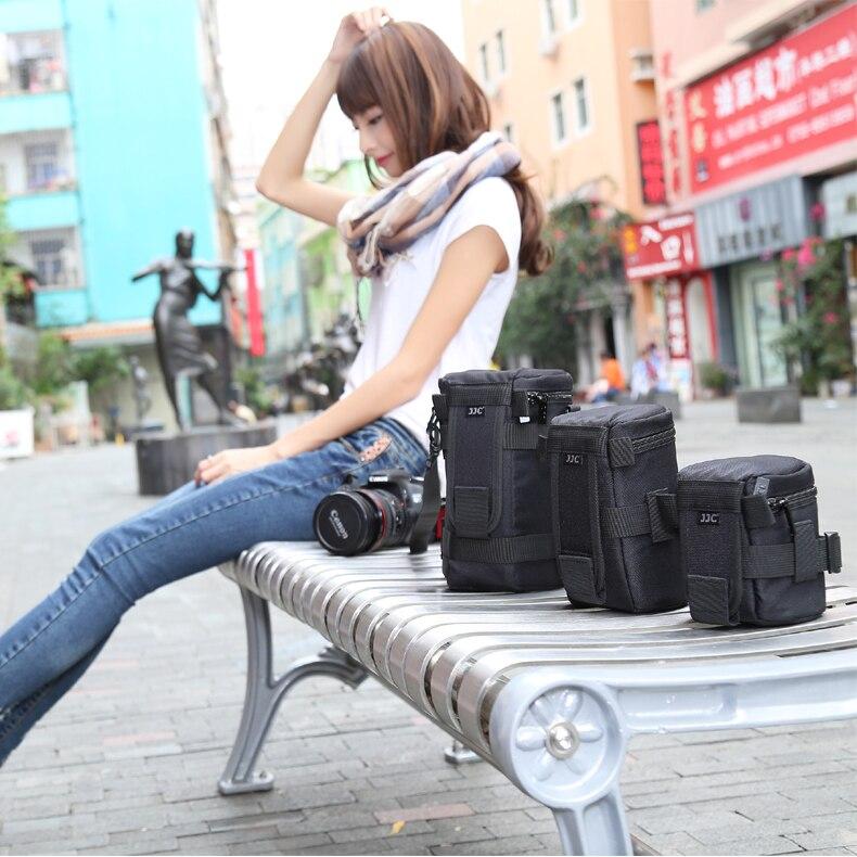JJC Nylon Deluxe Cas résistant à L'eau Protecteur Lentille Sac pour Sony A5000/a5100/a6000/Canon 1300d /Nikon D7200/P900/D5300 DSLR