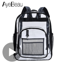 Kid Clear Transparent School Bag Children Backpack Schoolbag For Girl Boy Child Teenager Baby Women Big Back Pack Kindergarten самовар электрический kitfort кт 630 2 2л 2200вт черный корпус пластик