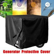 Черный генератор крышка ветрозащитная Защитная крышка навес, тент водонепроницаемая ткань Оксфорд универсальные чехлы аксессуары 3 размера
