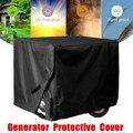 Preto gerador capa protetora à prova de vento cobertura de dossel abrigo impermeável oxford pano capas de todos os propósitos acessórios 3 tamanhos