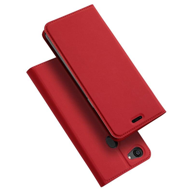 DUX DUCIS F7 Téléphone Cas Peau Pro Série PU Folio Flip Cover avec Fente Pour Carte En Cuir Pour OPPO F7