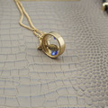 "New Hot Fashion Jewelry Round Transparent Pendant 18"" Short Necklace EE84 Free Drop Shipping"