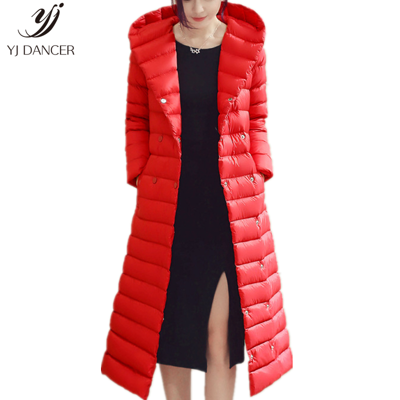 2018 Winter Plus Size 3XL Long Womens   Down   Jackets Ultra Light Duck Slim   Down     Coat   Hoodie Autumn Puffer Jacke Warm trench   coat
