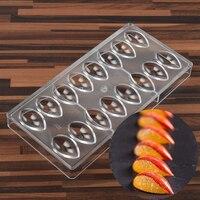 Olive Shap PC Polycarbonate Chocolate Mold Drop Water Lemon Lotus Shape Candy Fondant Mould Ice Cube