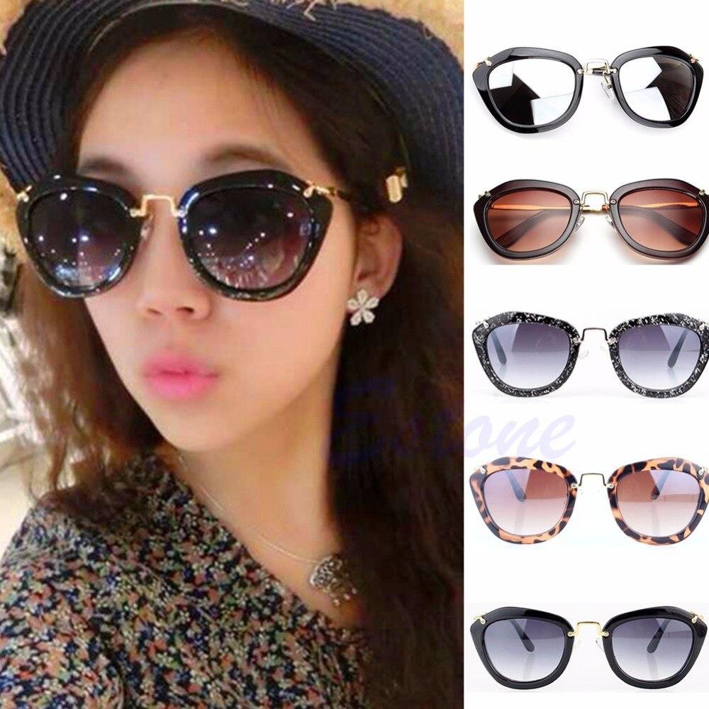 Mulheres Clássico Olho de Gatos Retro Designer Shades Quadro Leopardo óculos  de Sol Do Vintage 650e3d2e64
