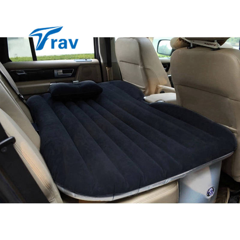 Car Air Mattress Travel Bed Flocking Inflatable Car Bed
