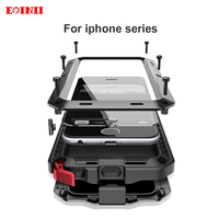 EOINII Waterproof For Iphone 7 Case Armor Luxury Metal Heavy Duty 360 Degree Protection Cover For