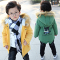 2017 High Quality Baby Boys girls Winter Jacket Coat Warm Cashmere Kids Hooded Outerwear Casual Down Parka Children's Clothes